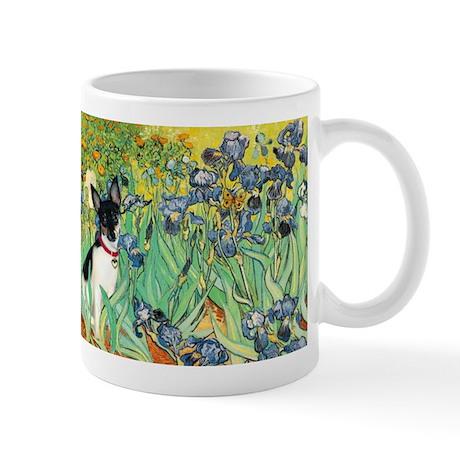 Irises (Van Gogh) & Rat Terrier Mug