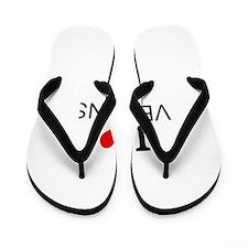 I Love Vegans Flip Flops