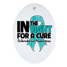 Cure Scleroderma Ornament (Oval)