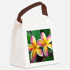 Maui Tropical Flower Canvas Lunch Bag