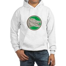 Alligator Head Snout Circle Retro Hoodie
