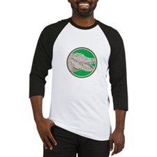 Alligator Head Snout Circle Retro Baseball Jersey