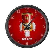 Custom Nutcracker Large Wall Clock