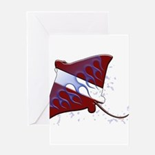 Dive Flag: Ray Greeting Cards