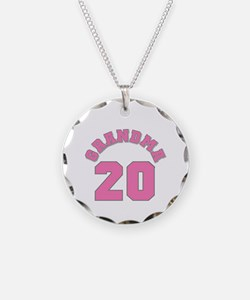 Grandma 17 Necklace Circle Charm