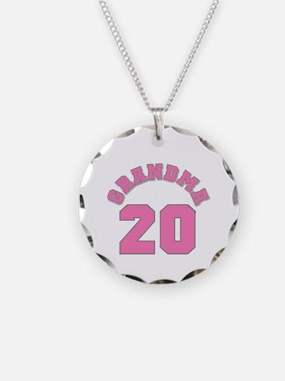 Grandma 17 Necklace Circle Charm