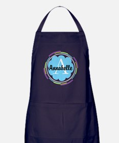 Personalized Name Monogram Gift Apron (dark)