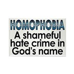Homophobia, hate crime Rectangle Magnet (100 pack)