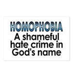 Homophobia, hate crime - Postcards (Package of 8)