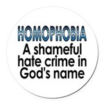 Homophobia, hate crime - Round Car Magnet