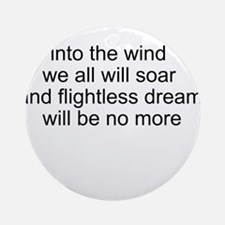 Into The Wind Ornament (Round)