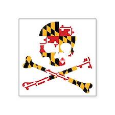Maryland Flag Skull Sticker