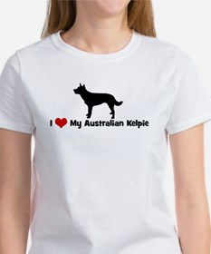 I Love My Australian Kelpie Women's T-Shirt
