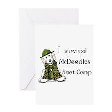 McDoodles Boot Camp Logo Greeting Card