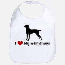 I Love My Weimeraner Bib