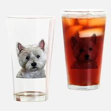 Cute Westies Drinking Glass