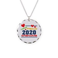 2015 Proud New Grandma Necklace Circle Charm