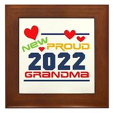 2015 Proud New Grandma Framed Tile