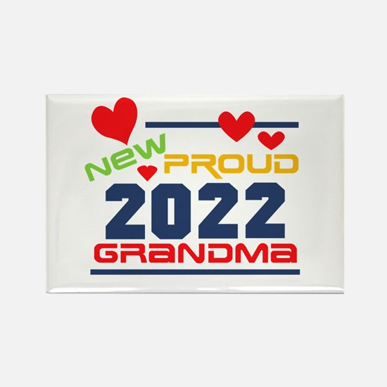 2017 Proud New Grandma Rectangle Magnet