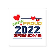 "2015 Proud New Grandma Square Sticker 3"" x 3"""