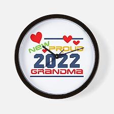 2016 Proud New Grandma Wall Clock