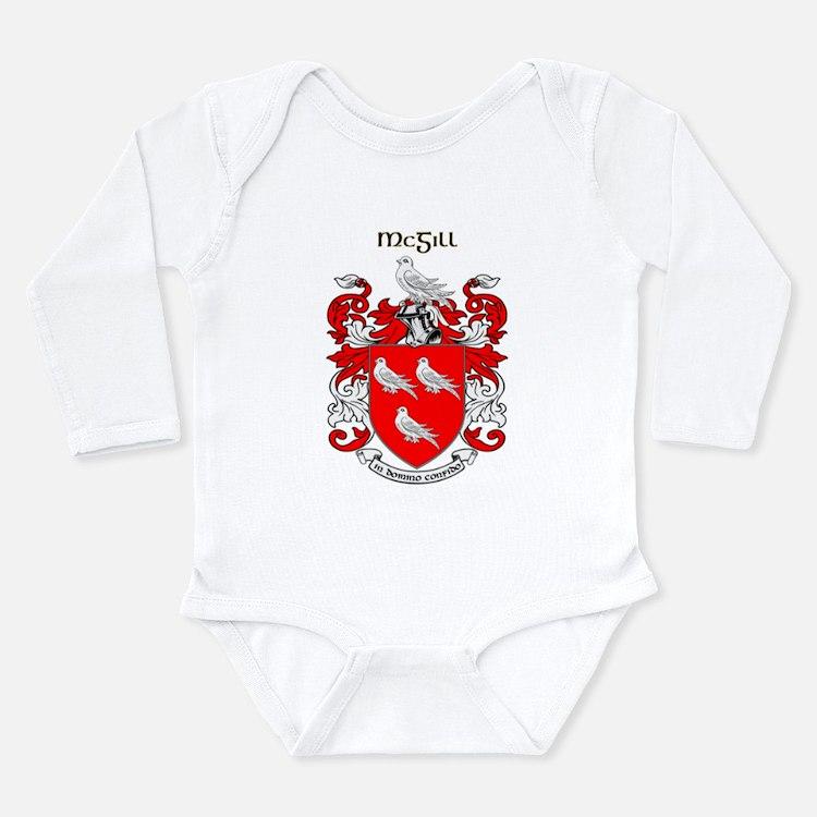 Cute Mcgill Long Sleeve Infant Bodysuit