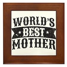 World's Best Mother Framed Tile