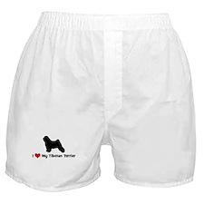 I Love My Tibetan Terrier Boxer Shorts