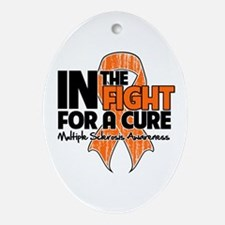 Cure Multiple Sclerosis Ornament (Oval)