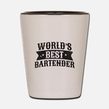 World's Best Bartender Shot Glass