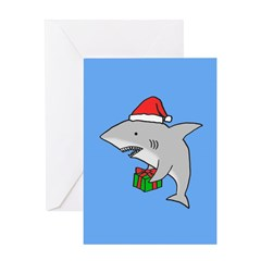 Great White Shark Christmas Card Greeting Cards