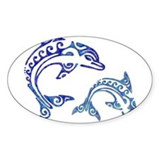Tribal Tattoo Porpoise Duo Decal