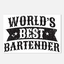 World's Best Bartender Postcards (Package of 8)