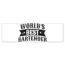 World's Best Bartender Bumper Bumper Sticker