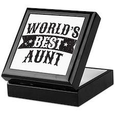 World's Best Aunt Keepsake Box