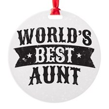 World's Best Aunt Ornament