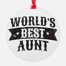 World's Best Aunt Ornament