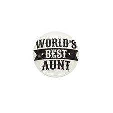 World's Best Aunt Mini Button