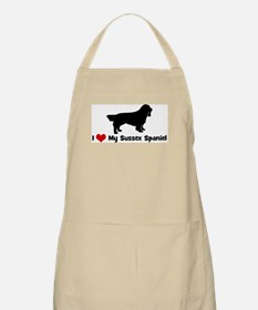 I Love My Sussex Spaniel BBQ Apron