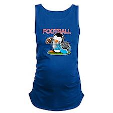 Football (blue) Maternity Tank Top