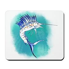 Watercolor Sailfish copy Mousepad