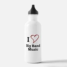 I Love Big Band Music Water Bottle