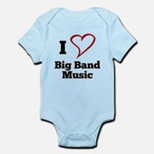 I Love Big Band Music Body Suit
