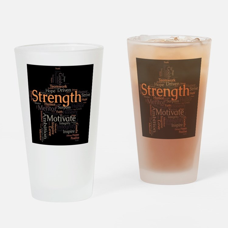 Strength Drinking Glass