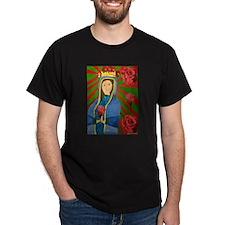 Deborah Rosales - Guadalupe and Roses T-Shirt