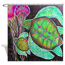 Maui Sea Turtle Shower Curtain