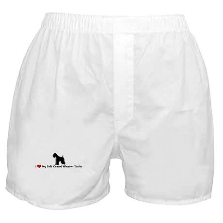 I Love My Soft Coated Wheaton Boxer Shorts