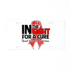 Cure Heart Disease Aluminum License Plate