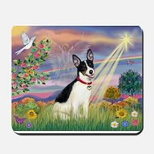 Cloud Angel & Rat Terrier Mousepad