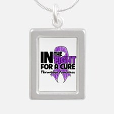 Cure Fibromyalgia Silver Portrait Necklace
